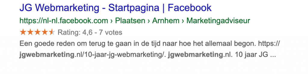 Review sterren rich snippets